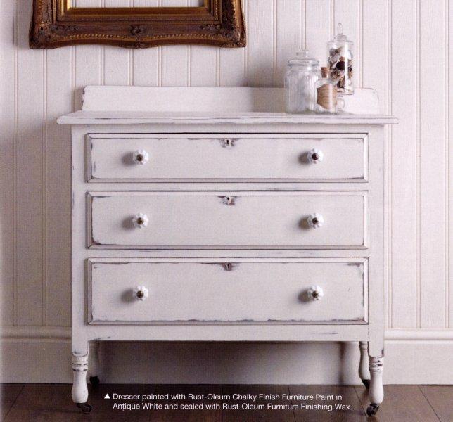 antique white chalk paintRustOleum Antique White  Chalky Finish Furniture Paint