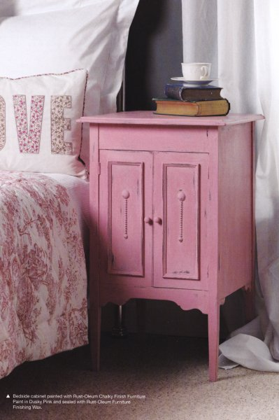 Rust Oleum NEW COLOUR Coral   Chalky Finish Furniture Paint