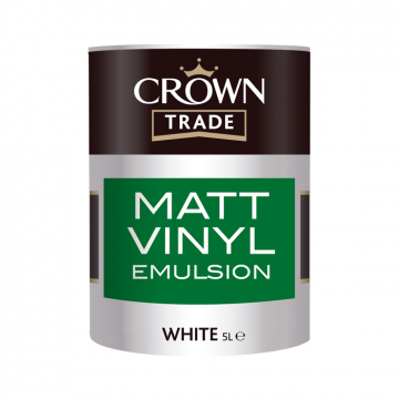 Crown trade vinyl matt emulsion designer paint store for Can you use emulsion paint on canvas